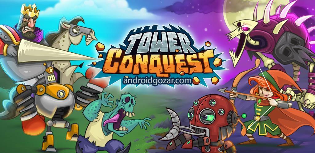 Tower Conquest 22.00.40g دانلود بازی استراتژی فتح قلعه اندروید + مود