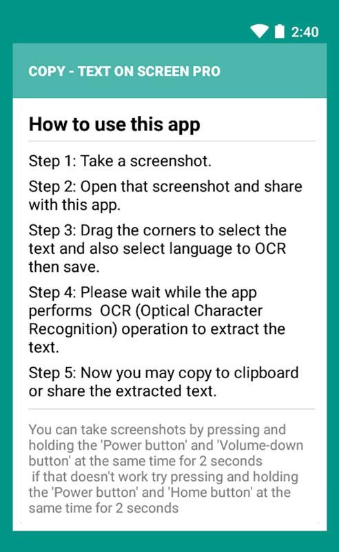 دانلود Copy Text On Screen pro 2.5.0 کپی متن روی صفحه نمایش اندروید