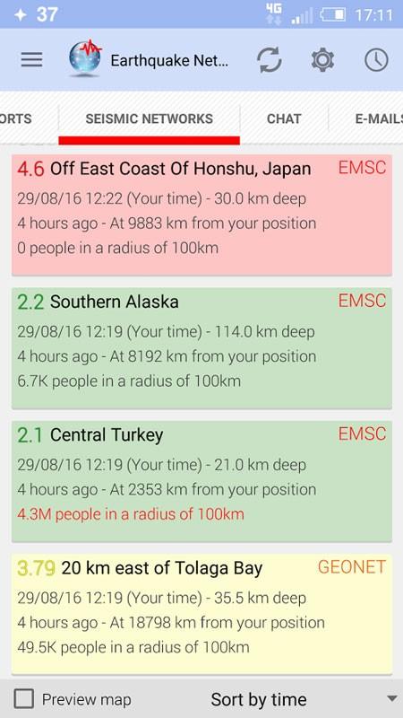 دانلود Earthquake Network Pro 11.4.29 برنامه تشخیص زلزله اندروید