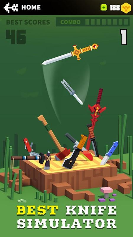Flippy Knife 1.8.5 دانلود بازی اکشن پرتاب چاقو اندروید + مود