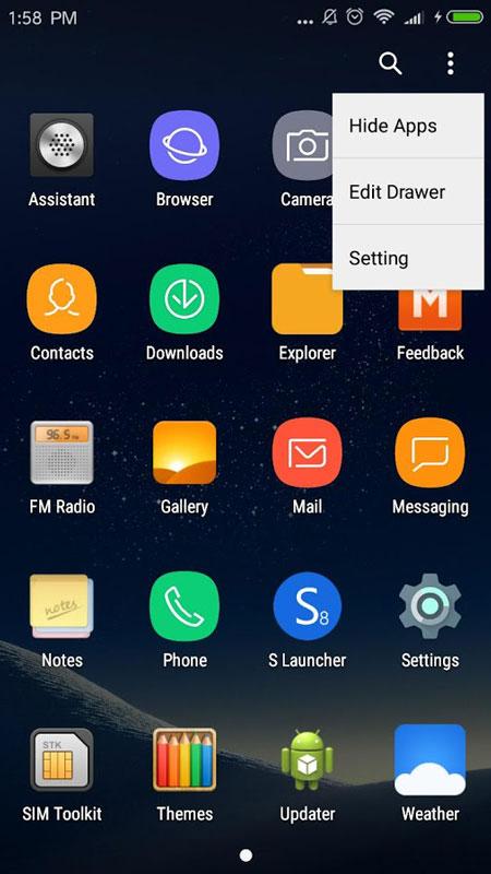 S S8 Launcher Prime 3.0 دانلود لانچر گلکسی اس 8 اندروید