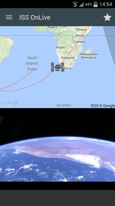 ISS onLive Full 4.5.1 دانلود نرم افزار تماشای زنده زمین و ایستگاه فضایی اندروید