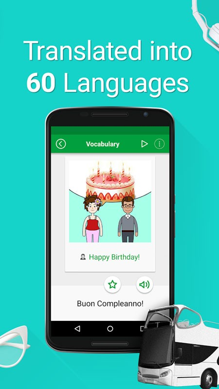 Speak Italian – 5000 Phrases & Sentences Pro 1.6.3 – آموزش زبان ایتالیایی