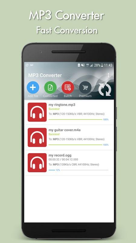 MP3 Converter Premium 5.4 دانلود مبدل فایل های صوتی اندروید