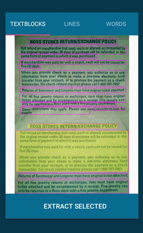 دانلود OCR Text Scanner Pro 2.1.0 برنامه استخراج متن از عکس اندروید