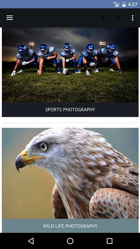 Photography Tutorials Pro 4.2 دانلود نرم افزار آموزش عکاسی حرفه ای اندروید