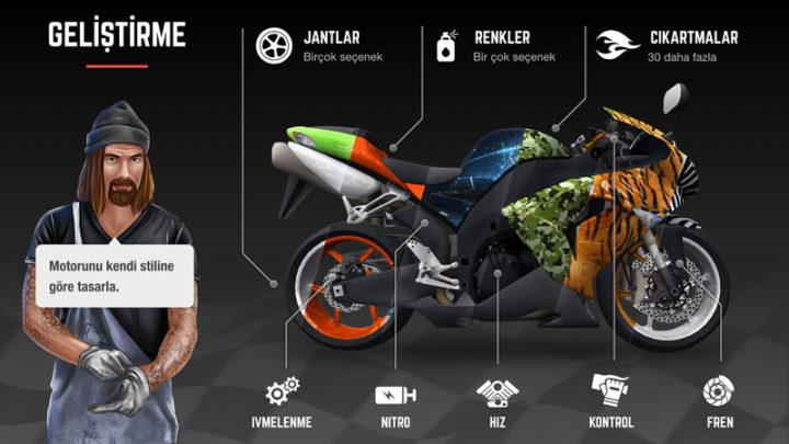 Racing Fever: Moto 1.4.9 دانلود بازی مسابقه موتور سواری اندروید + مود