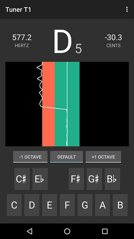 Tuner T1 Full 1.5 دانلود نرم افزار تنظیم و کوک کردن هر ساز موسیقی