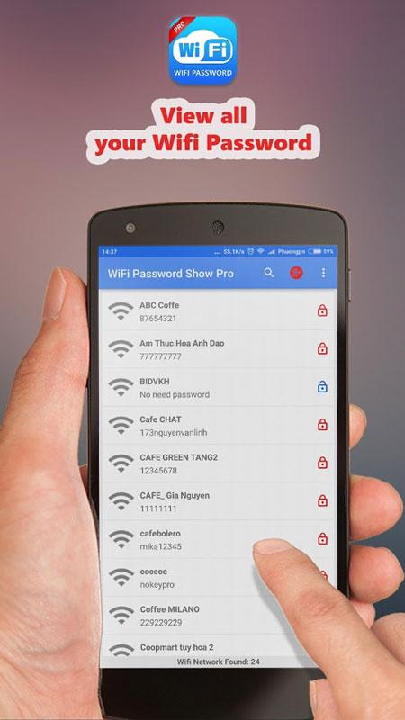WiFi Password Show Pro 1.3.1 دانلود نرم افزار بازیابی رمز عبور WiFi اندروید