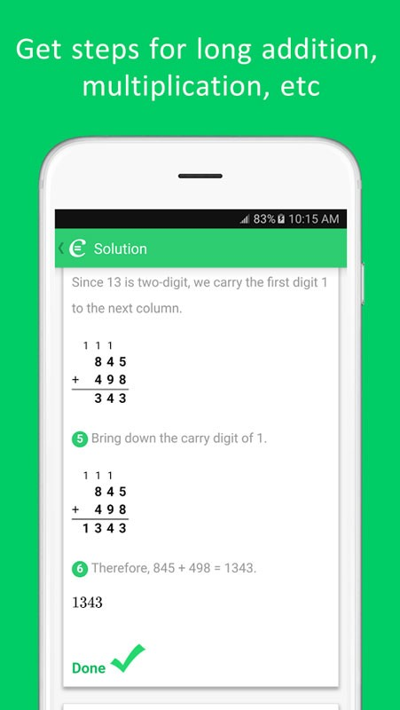 Cymath Plus 2.31 دانلود نرم افزار حل گام به گام مسائل ریاضی اندروید