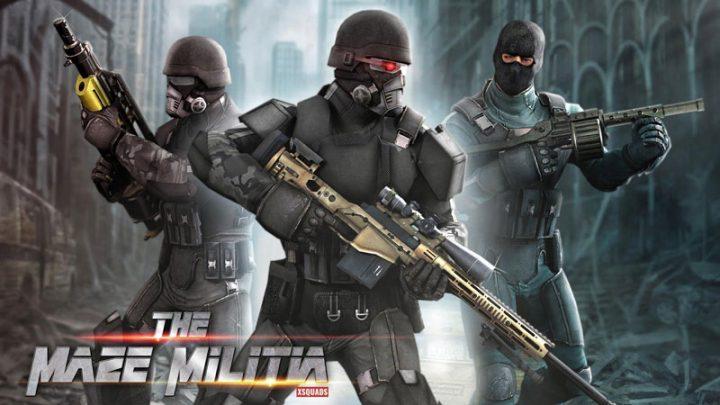 MazeMilitia: LAN, Online Multiplayer Shooting Game 3.2 دانلود بازی اکشن تیراندازی چند نفره اندروید + مود + دیتا