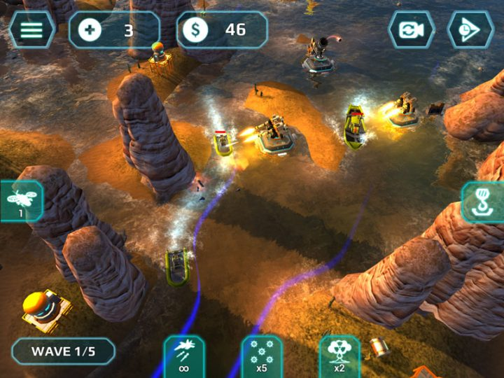 Naval Storm TD Full 0.9.3 دانلود بازی استراتژی طوفان دریایی اندروید + مود