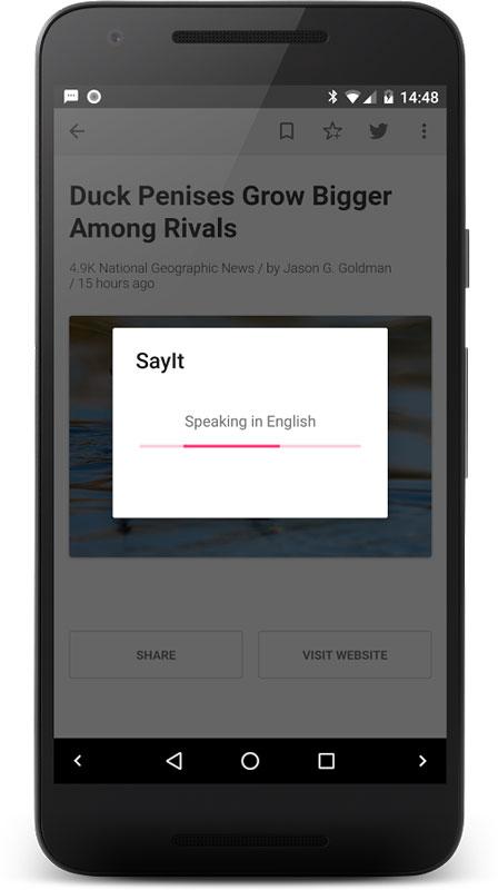 SayIt FULL 2.1 دانلود نرم افزار خواندن صوتی انواع متن در اندروید