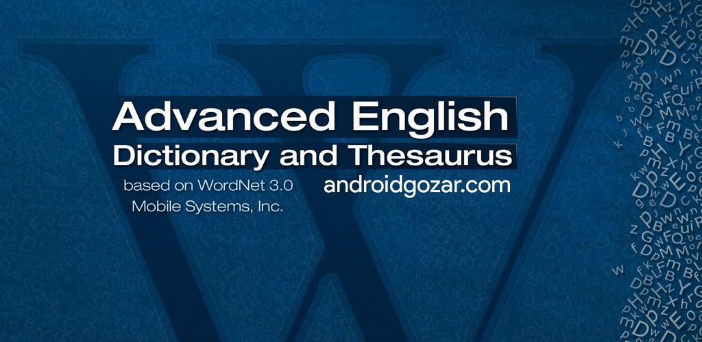 Advanced English Dictionary & Thesaurus Premium 10.0.424 دانلود دیکشنری اندروید