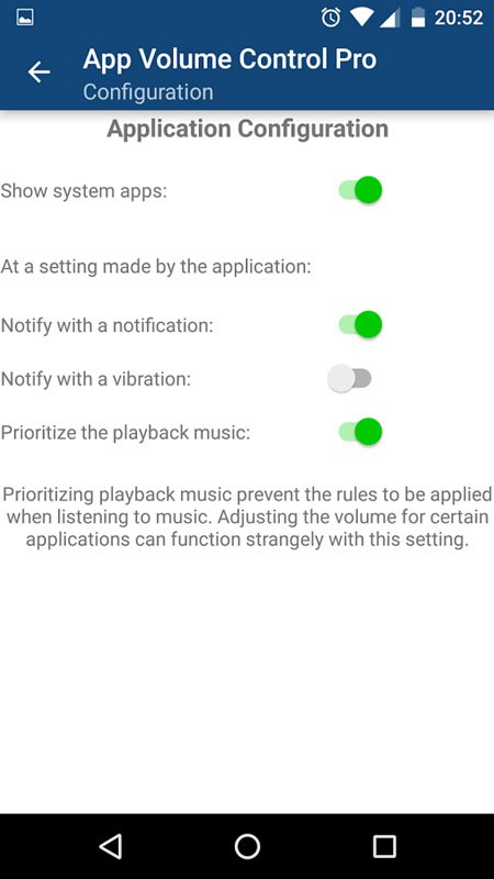 App Volume Control Pro 2.17 دانلود نرم افزار کنترل صدا برنامه ها اندروید