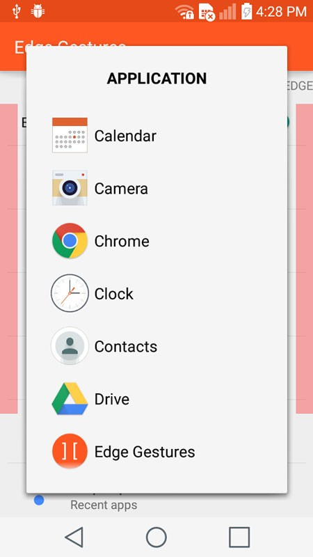 Edge Gestures 1.5.6 انجام کار با کشیدن لبه صفحه نمایش اندروید