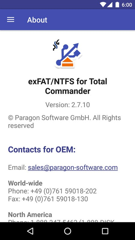 Microsoft exFAT/NTFS for USB by Paragon Software FULL 3.1.1.0 دانلود نرم افزار اندروید