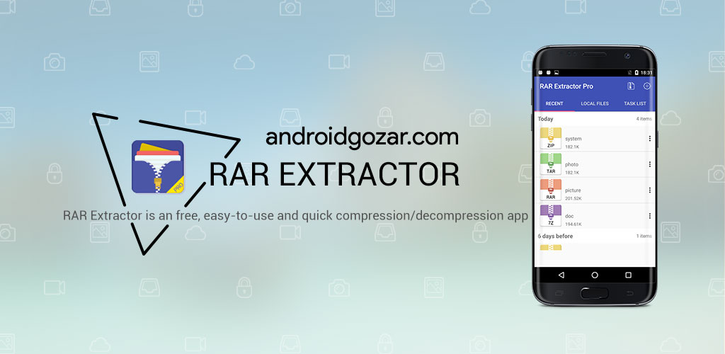 RAR Extractor Pro 2.12 دانلود نرم افزار باز کردن فایل های فشرده اندروید