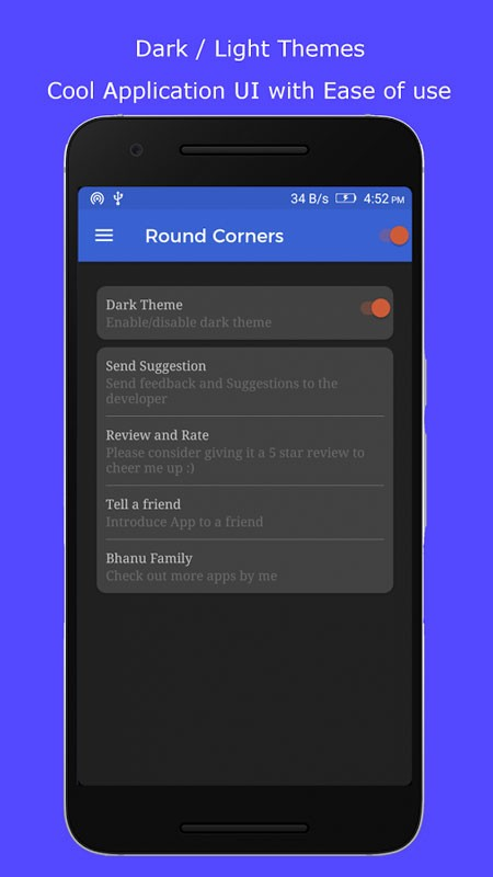 Round Corners 2.6 دانلود برنامه گرد کردن گوشه صفحه نمایش موبایل