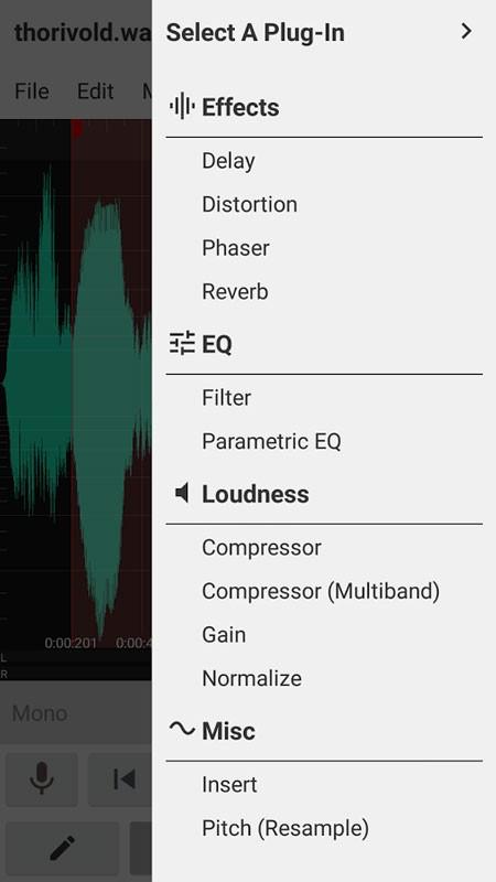 WaveEditor for Android Pro 1.69 ضبط، ویرایش و مسترینگ صدا اندروید