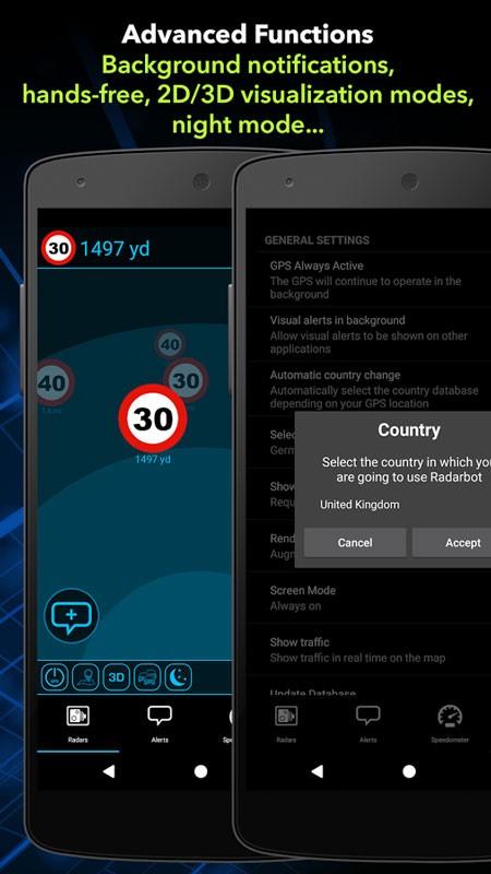 Speed Camera Detector Pro 6.66 دانلود برنامه تشخیص دوربین کنترل سرعت اندروید