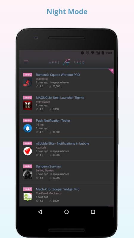 AppsFree Pro 3.0.2 دانلود نرم افزار اطلاع از برنامه های رایگان شده اندروید