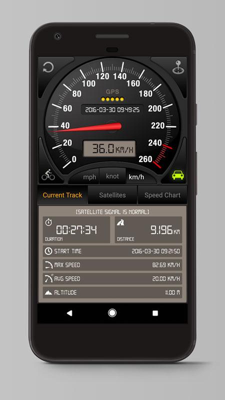 دانلود Speedometer GPS Pro 3.7.79 برنامه سرعت سنج بدون اینترنت اندروید