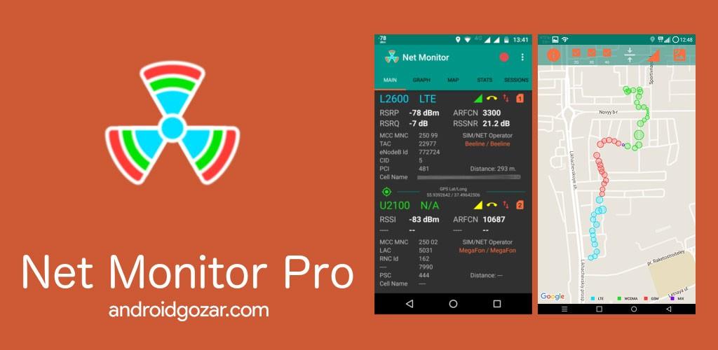 دانلود NetMonitor Pro 1.65 برنامه نمایش دکل موبایل برای اندروید
