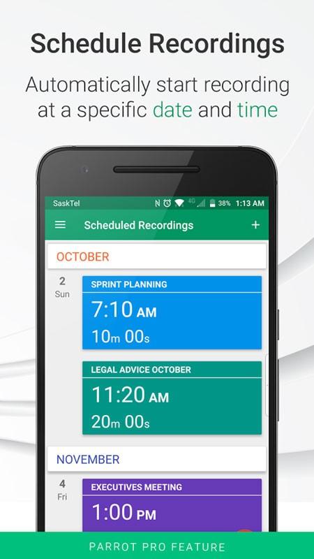 دانلود Parrot Pro – Voice Recorder 3.5.7 برنامه ضبط صدا اندروید