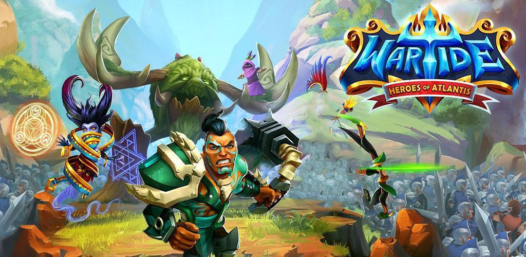 Wartide: Heroes of Atlantis 1.11.0 دانلود بازی قهرمانان آتلانتیس + مود