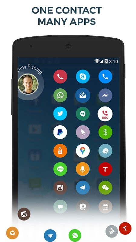 Contacts, Phone Dialer & Caller ID: drupe 3.031.0049X-Rel Pro شماره گیر اندروید