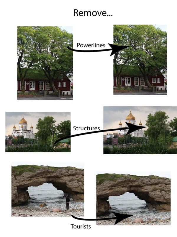 TouchRemove 3.2 دانلود نرم افزار حذف اشیای ناخواسته از تصاویر اندروید