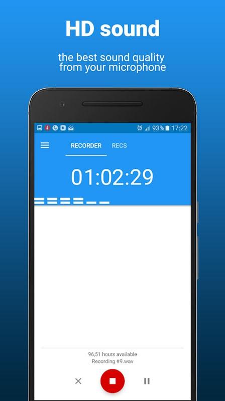 AudioRec Pro 5.3.2 دانلود نرم افزار ضبط صدا با کیفیت استودیو اندروید