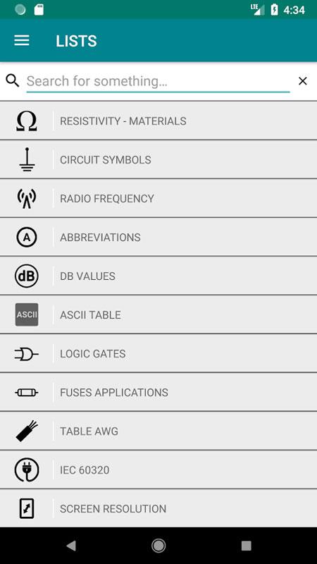 Electronics Engineering Calculators PRO 2.1.0 ماشین حساب مهندسی الکترونیک اندروید