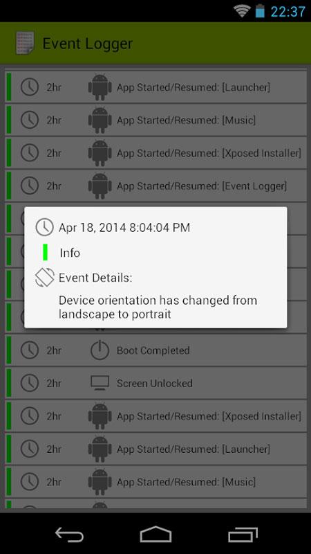 Event Logger PRO 1.3.3 نرم افزار ثبت فرایندهای در حال انجام اندروید