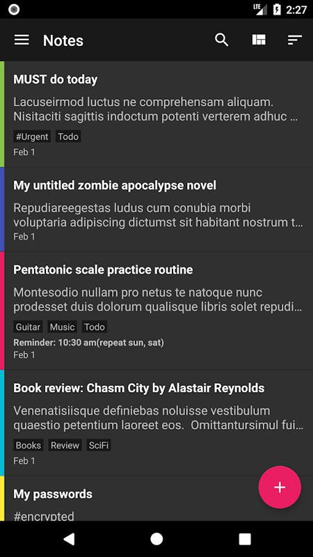 FairNote Notepad Pro 1.0.59 دانلود دفترچه یادداشت ساده و امن اندروید