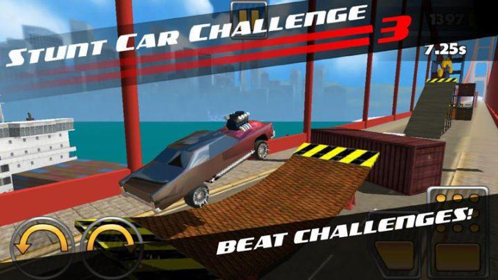 دانلود Stunt Car Challenge 3 3.33 بازی مسابقه بدلکاری ماشین اندروید + مود