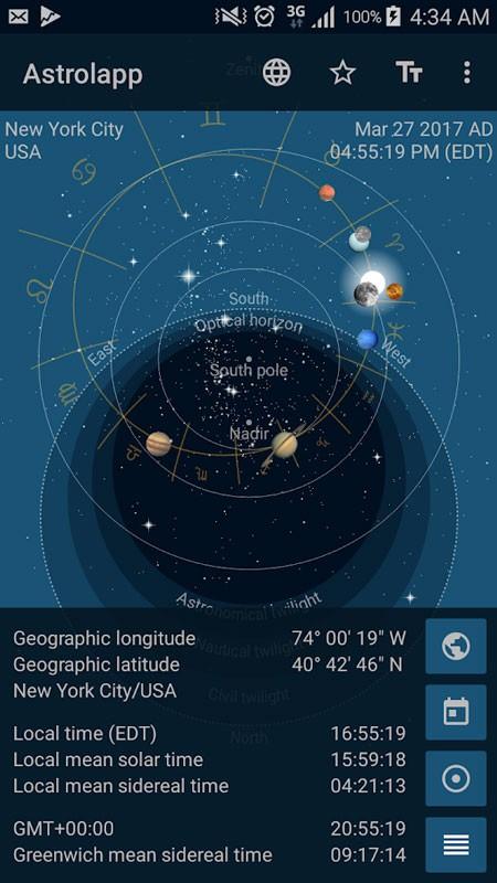 Astrolapp Planets and Sky Map 4.1.0.3 دانلود برنامه منظومه شمسی
