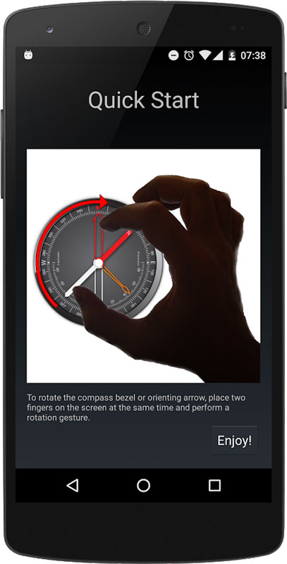 Compass Pro 1.48 دانلود برنامه قطب نما پیشرفته اندروید