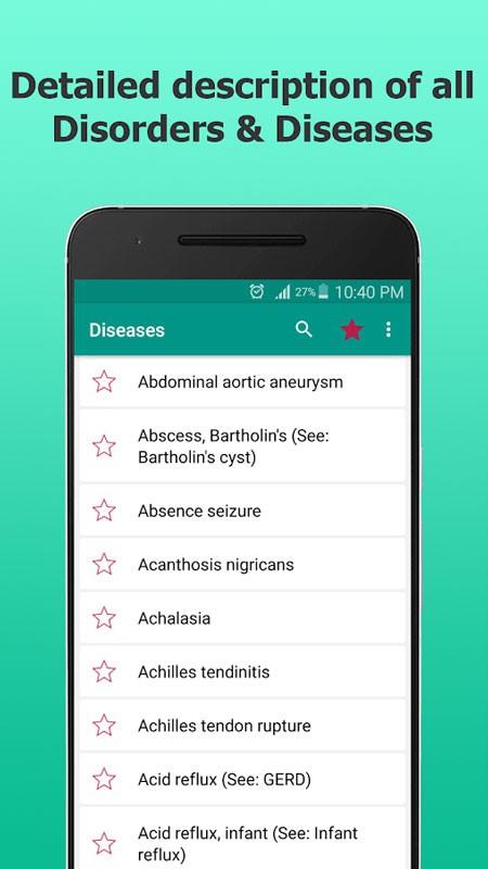 Disorder & Diseases Dictionary FULL 3.2 دانلود دیکشنری بیماری های پزشکی اندروید
