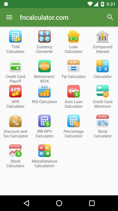 Financial Calculators Pro 3.0.7 دانلود ماشین حساب مالی اندروید