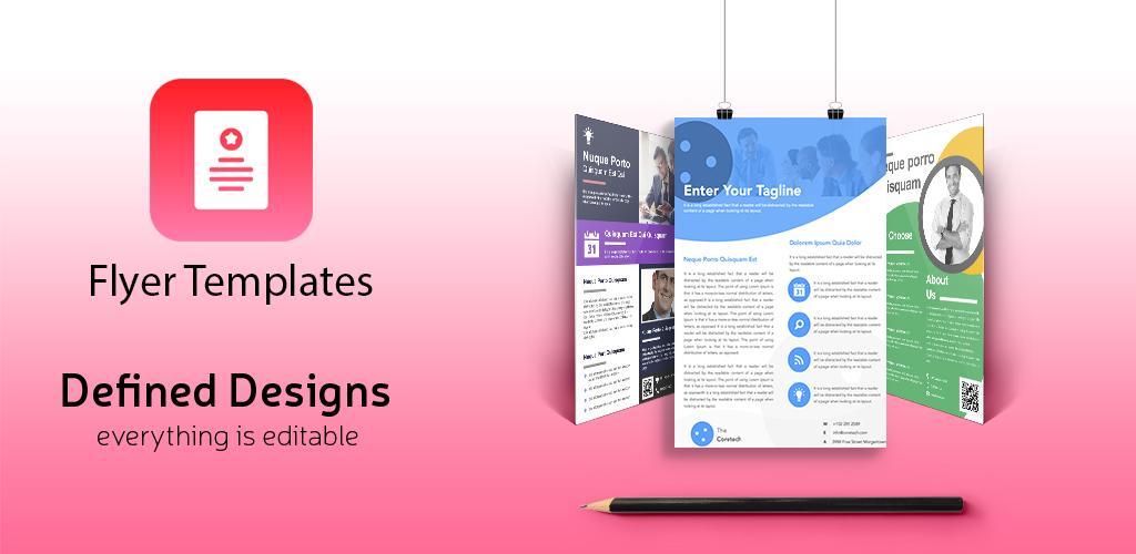 Flyer Maker Pro 8.1 دانلود نرم افزار ساخت بروشور و پوستر اندروید