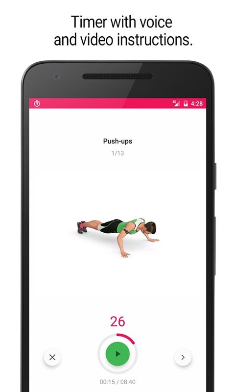 Home Workout – 30 Day Fitness Challenge Premium 1.4.3 آموزش فیتنس در خانه اندروید