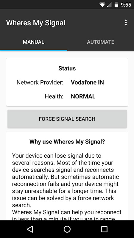Wheres my Signal Pro: Signal Refresher 2.6 تقویت آنتی دهی اندروید