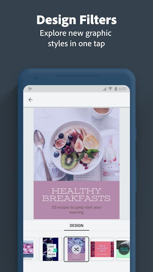 Adobe Spark Post 1.2.1 طراحی گرافیک، ساخت کلاژ و پوستر اندروید