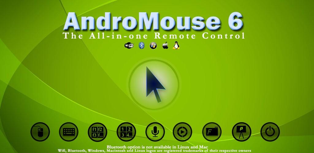 WiFi and Bluetooth Remote 6.5 تبدیل گوشی به موس و کیبورد بی سیم