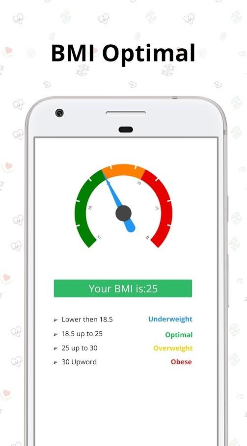 BMI calculator PRO 2.1 دانلود نرم افزار محاسبه قد و وزن اندروید