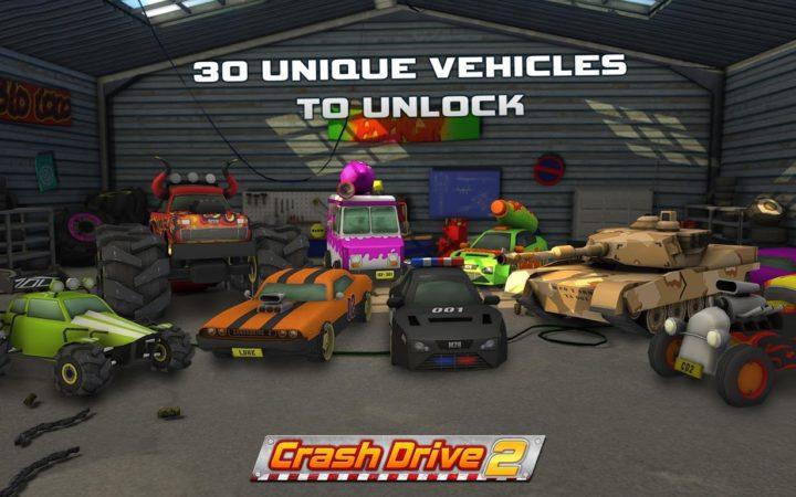 دانلود Crash Drive 2: 3D racing cars 3.70 بازی ماشین جنگی اندروید + مود