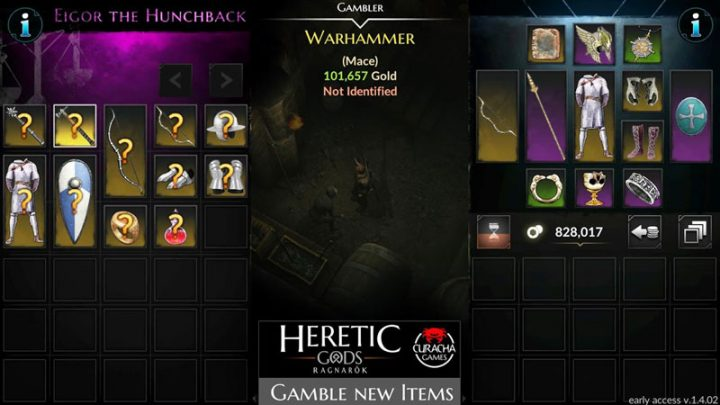 دانلود Heretic Gods 1.11.09 بازی خدایان مرتد اندروید + مود