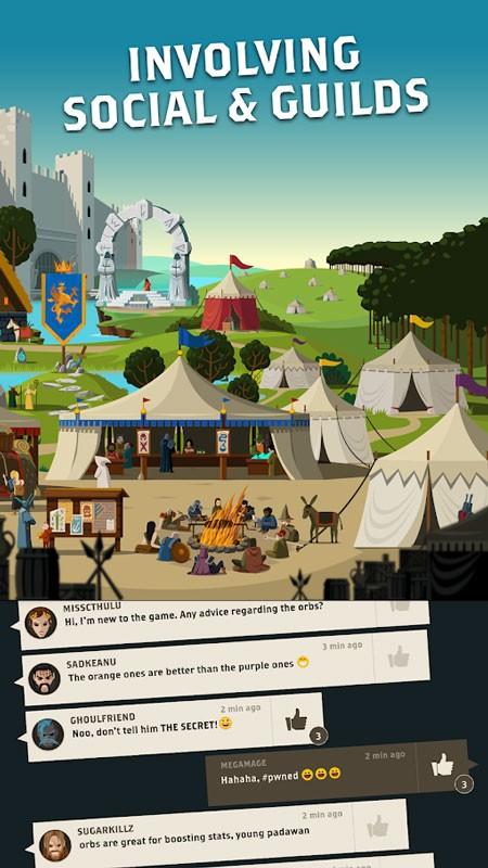 دانلود Questland: Turn Based RPG 3.5.2 بازی سرزمین نبرد اندروید